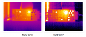 NETD thermal image comparison