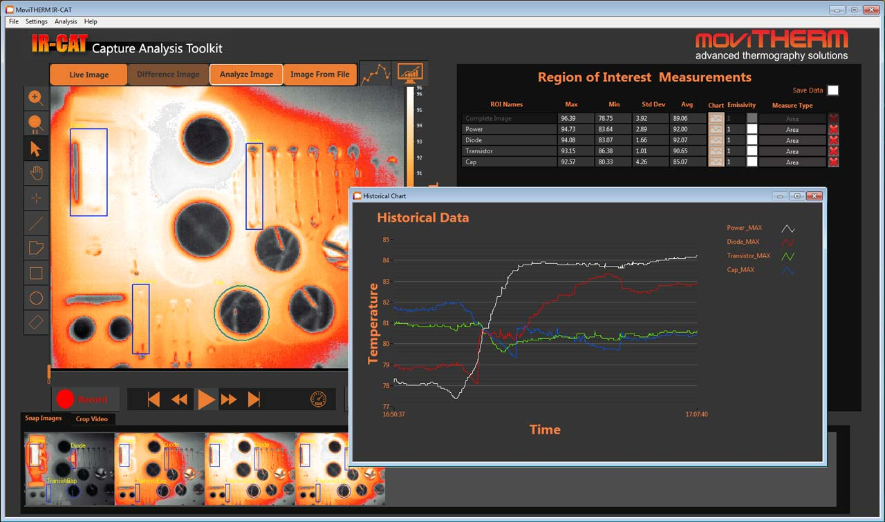 MoviTHERM Infrared Capture & Analysis Tool, thermal imaging software